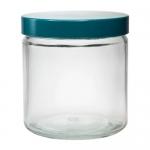 Zylinder-Weithalsflaschen mit Schraubgewinde inkl. Kappe+PTFE-Dichtung VPE = 24 Stück, Klarglas; 240ml