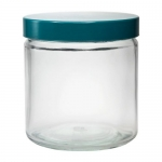 Zylinder-Weithalsflaschen mit Schraubgewinde inkl. Kappe+PTFE-Dichtung VPE = 48 Stück, Klarglas, 30 ml