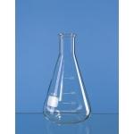 Erlenmeyer-Kolben, Enghals, Boro 3.3      300 ml, mit Bördelrand und Teilung
