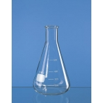 Erlenmeyer-Kolben, Enghals, Boro 3.3     3000 ml, mit Bördelrand und Teilung