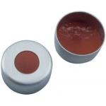 Aluminium Bördelkappe farblos lackiert, mit Loch