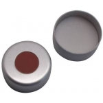 11mm Verschluss  Aluminium Bördelkappe, farblos lackiert, mit