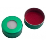 UltraClean Verschluss  11mm  Aluminium Bördelkappe, grün lack