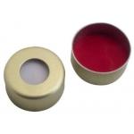 UltraClean Verschluss  11mm  Aluminium Bördelkappe, gold lack