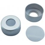 11mm Verschluss (Phthalatfrei):Aluminum-Bördelkappe, mit Rollierung mit eingel.Septum PTFE liner 0.25mm mit O-Ring aus Fluorkunststoff, VE=100 Stk.,