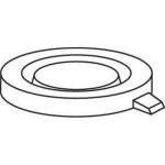 22mm Schnappdeckel, 23x5,5mm transparent geschlossen für ND22