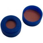 11mm Verschluss  PE Schnappringkappe, blau, mit Loch, weiche