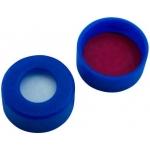 UltraClean Verschluss  11mm PE Schnappringkappe, blau, mit Lo