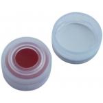 11mm Verschluss  PE-Schnappringkappe, transparent, mit Loch,
