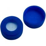 11mm Verschluss  PE Schnappringkappe, blau, mit Loch; Silicon