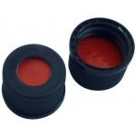 13mm Verschluß  Polypropylen Schraubkappe schwarz, 8,5mm Loch