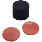 15mm Verschluss  PP-Schraubkappe, schwarz, geschlossen, Gewin