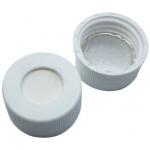24mm Ultra Clean Verschluß  PP- Schraubkappe weiß, 10mm Loch;