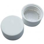 24mm Ultra Clean Verschluß  PP- Schraubkappe weiß, geschlosse