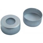 11mm Verschluß, Aluminium Bördelkappe farblos lackiert, 5,6mm