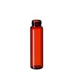 12ml Gewindeflasche, Gewinde 15-425, 66x18,5mm, Braunglas, 1.