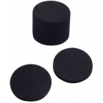 15mm Verschluss: PP Schraubkappe, schwarz, geschlossen; Viton