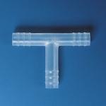 Schlauchverbinder, PP, T-Form            f.Schl.-I.D.  3- 4 mm, Ges.-L. 20 mm