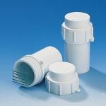 Aufbewahrungs-/Transportbehälter PP rund f. 5 dicke oder 10 dünne Objektträger