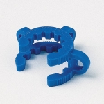 Kegelschliffklemme, POM                  f. NS 19/26, blau