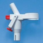 Armatur für Titrierapparat Dr. Schilling f. 10 ml m. Mikro-Schraube u. Druckknopf