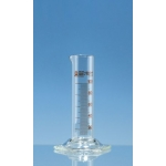 Messzylinder niedr.F. SILBERBRAND-ETERNA   10 ml: 1 ml, Boro 3.3, braun grad.