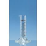 Messzylinder niedr.F. SILBERBRAND-ETERNA   25 ml: 1 ml, Boro 3.3, braun grad.