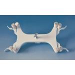 Bürettenklemme, Aluminium-Druckguss      für 2 Büretten, mit Rollenhalterung