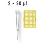 PipSpitzen pal. DNA-/RNase-frei DE-M IVD TipStack 2  -200 µl unsteril VE=960+2 B.