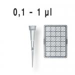 Filterspitzen, pal., DNA-, RNase-frei    TipRack 0,1-  1 µl, BIO-CERT, VE = 960