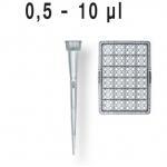 Filterspitzen, pal., DNA-, RNase-frei    TipRack 0,5- 10 µl, BIO-CERT, VE = 960