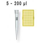 Filterspitzen, pal., DNA-, RNase-frei    TipRack 5 -200 µl, BIO-CERT, VE = 960