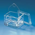 Färbetrog mit Deckel, Natron-Kalk-Glas   105 x 85 x 70 mm