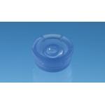 Deckel für UV-Küvette mikro, PE, rund    blau, 100 Stück