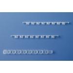 8er-Strips PCR-Deckel, farblos, für qPCR flach, f. 781377/-78, 25 Beu./12 Strips