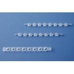 8er-Strips PCR-Deckel, farblos           gewölbt, f. 781377/-78, 25 B./12 Strips