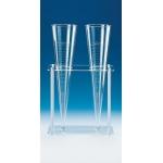 Gestell für 2 Sedimentiergefäße          aus Kunststoff, 300 x 130 x 315 mm