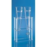 Gestell für 2 Sedimentiergefäße          aus Glas oder Kunststoff, 300x130x400 mm